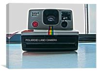 polaroid Camera coloured, Canvas Print