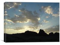 Glen Canyon, Utah, Desert Sunrise, Canvas Print