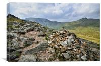 On Route To Helvellyn, Canvas Print