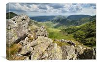 Kidsty Pike and the Riggingdale Valley, Canvas Print