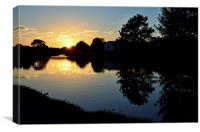 Sunset over the Lancaster Canal, Canvas Print
