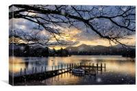 Christmas Sunset at Derwentwater, Canvas Print