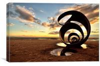 Marys Shell Cleveleys Beach, Canvas Print