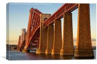 The Forth Rail Bridge At Sunset, Canvas Print