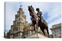 Edward VII Liver Building Liverpool, Canvas Print