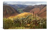 View From Eagle Crag, Canvas Print