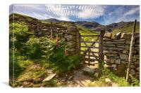Gate To The Old Man Of Coniston, Canvas Print