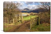 Gate To The Countryside Latterbarrow, Canvas Print