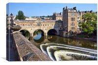 Pulteney Bridge, Bath,, Canvas Print