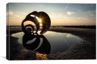 Starburst Sun at Mary's Shell - Cleveley's, Canvas Print
