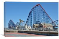 Blackpool Pleasure Beach, Canvas Print