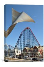 Blackpool's Pleasure Beach and the Big One., Canvas Print