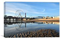 Golden Light On Blackpool, Canvas Print