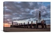Old Pier Head St Annes, Canvas Print