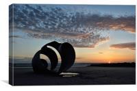 Sunset Shell, Canvas Print