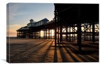 Long Shadows Under The Pier, Canvas Print