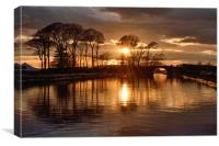 Last Light On The Lancaster Canal, Canvas Print