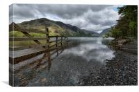Dull morning at Buttermere, Cumbria, Canvas Print