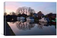 Lancaster Canal At Sunset, Canvas Print