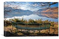 Seat with a view of Derwentwater, Canvas Print