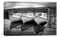 Consign Boat Reflections, Canvas Print