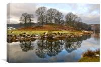 River Brathay Reflections , Canvas Print