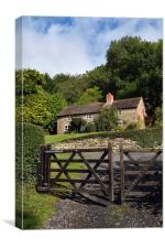 Country Cottage , Canvas Print