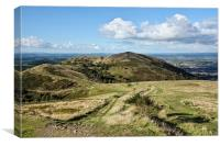 Countryside Views on the Malvern Hills, Canvas Print