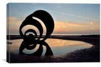 Sunset Mary's Shell at Cleveleys, Canvas Print