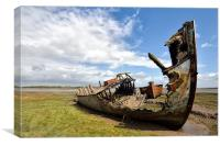 River Wyre Boats, Canvas Print