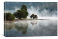 Mist Rising from Ulswater at Glenridding, Canvas Print