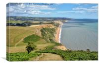 Dorset Views From Thorncombe Beacon, Canvas Print