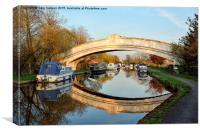 Golden Light On The Lancaster Canal Bridge, Canvas Print