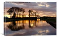 Sunset On The Lancaster Canal, Canvas Print