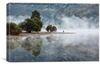 Early Morning Mist On Ullswater, Canvas Print