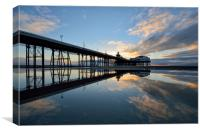North Pier Reflections, Canvas Print