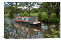 Sailing Down The Lancaster Canal, Canvas Print