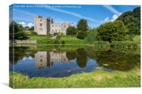 Sizergh Castle Reflections, Canvas Print