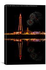 Blackpool Tower At Night, Canvas Print