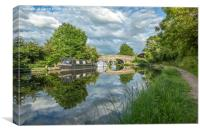 Reflections On The Lancaster Canal, Canvas Print