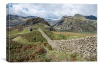 Stone Wall To Side Pike, Canvas Print