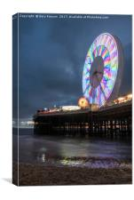 Big Wheel Blackpool, Canvas Print