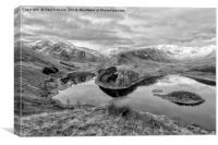 Hawswater Mono Views, Canvas Print