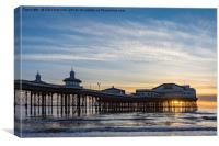 Starlings Over North Pier, Canvas Print