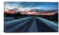 Sunrise over the Sandringham road, Canvas Print
