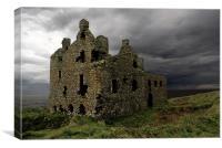 Dunskey castle, Canvas Print