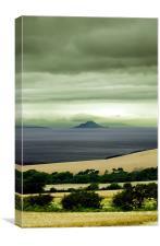Misty isle, Canvas Print