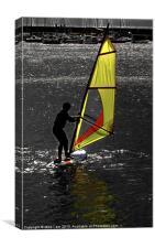 Windsurfer Silhouette, Canvas Print