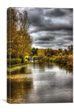 Oxford canal, Canvas Print