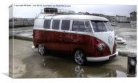 Classic VW camper, Canvas Print